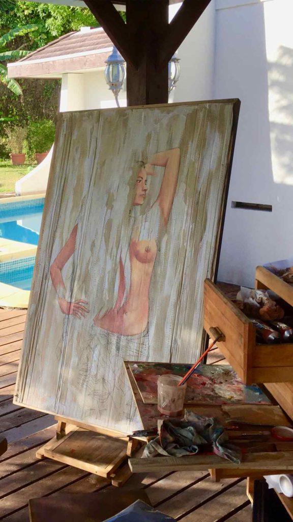 atelier, art of work, pool, French Polynesia, artiste, Polynesian